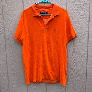 Vilebrequin orange terry cloth polo size XL